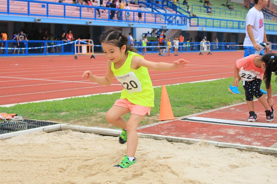 Jump, Long Jump, Field, Athlete, Sport, Young, Jumping