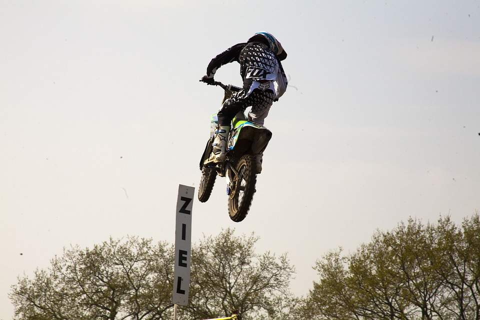 Motocross, Motorcycle, Sand, Jump, Motorsport, Target
