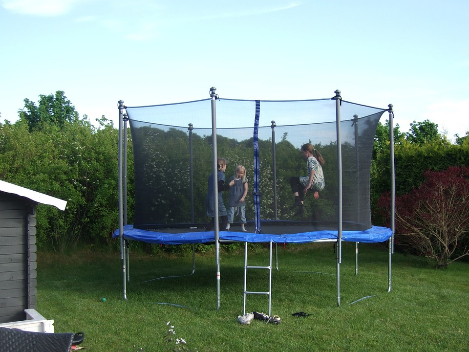 Trampoline, Children, Playing, Child, Jump, Happy, Play
