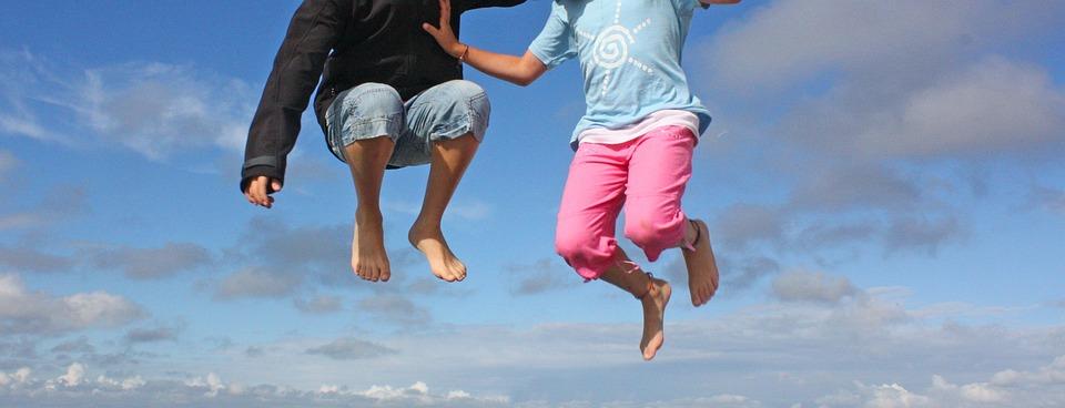 Jump, Sky, Child