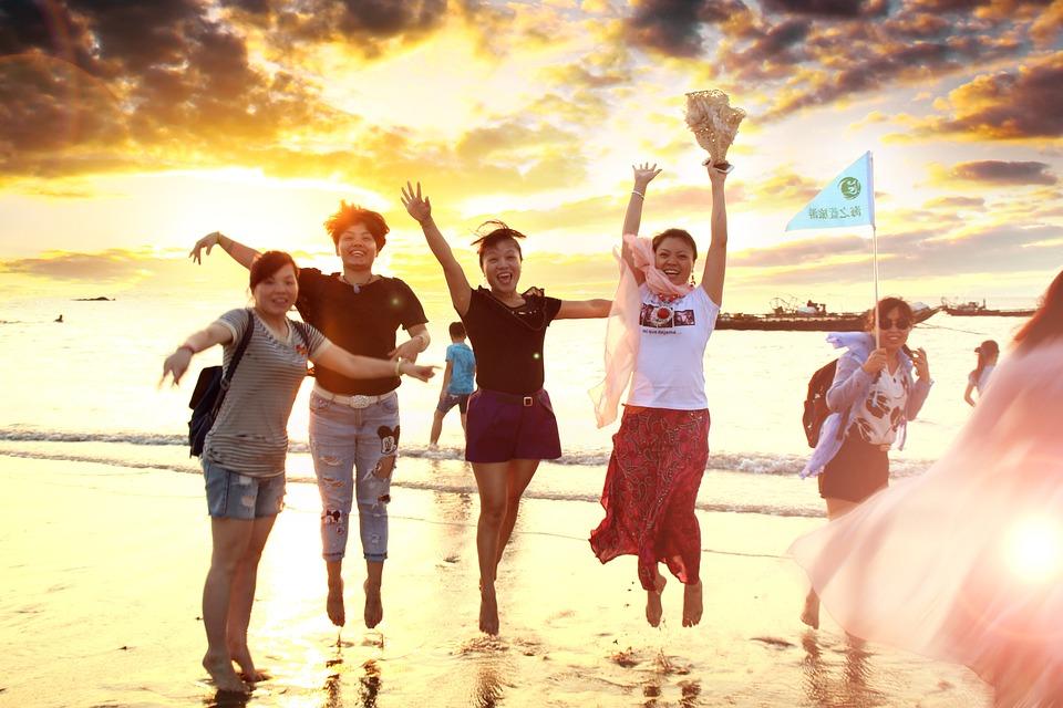 Beach, Girls, Women, Jumping, Interesting, Joey, Young