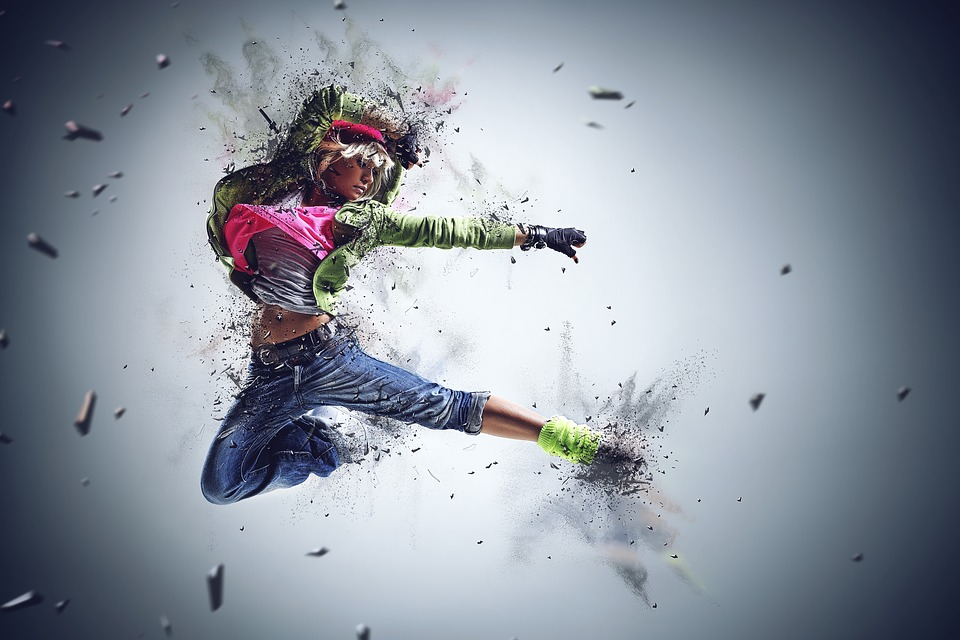 Girl, Woman, Female, Dance, Jumping, Young, People