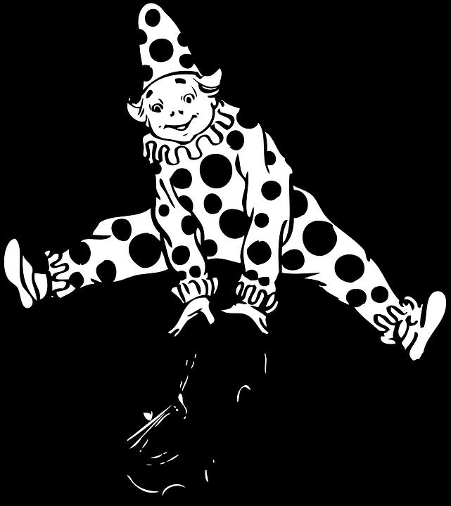 Clown, Joker, Cat, Jumping, Over, Circus, Jump
