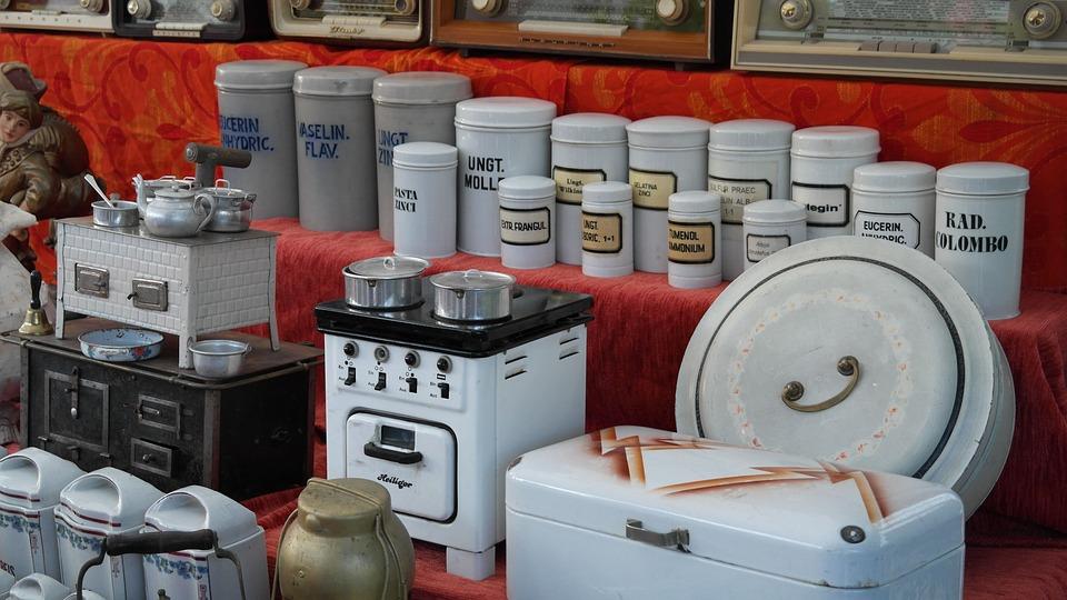 Tableware, Junk, Market, Antiques, Flea Market