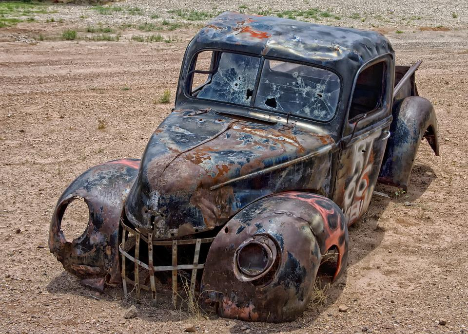 Free photo Junk Desert Pickup Truck Heap Oldster Arizona - Max Pixel