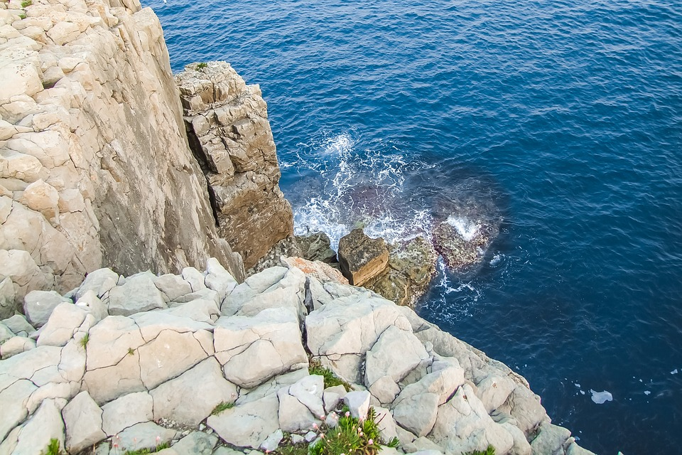 Jurassic Coast, Dorset, England, Reef, Ocean