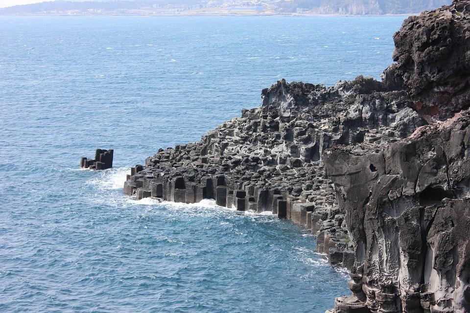 Jusangjeolli, Jeju Island, Seogwipo, Sea, Rock, Lava