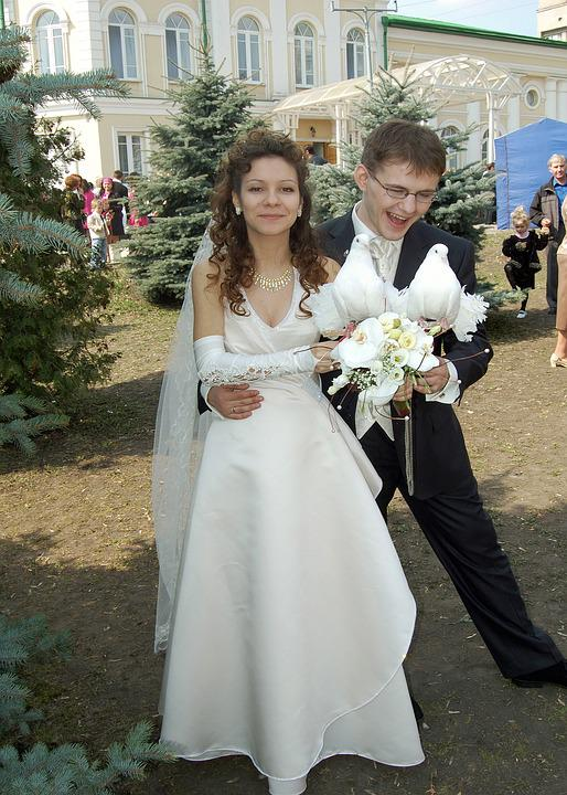 Wedding, Stroll, Just Married, Nature