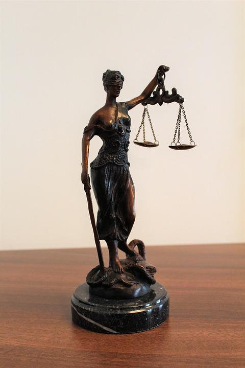 Justitia, Justice, Blindness, Horizontal