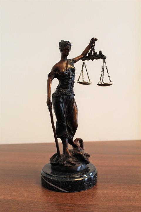 Justitia, Justice, Blindness, Horizontal