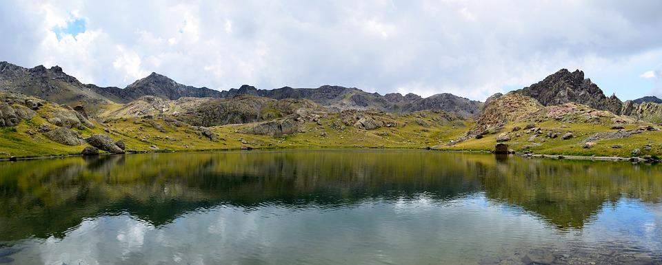 Landscape, Mountain, Kaçkars, Highland, Clouds, Green