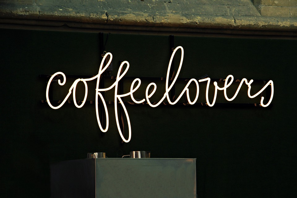 Neon Sign, Coffee, Coffee Lovers, Kafeeliebhaber, Scene