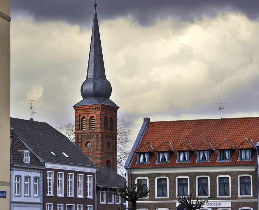 Kalkar, Steeple, Building, Germany, Architecture