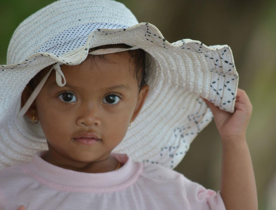 Girl, Kambodsha, Angkor