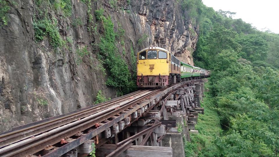 Train, Thailand, Kanchanaburi