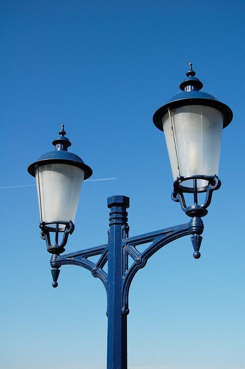 Street Lamp, Kandelláber, Sky
