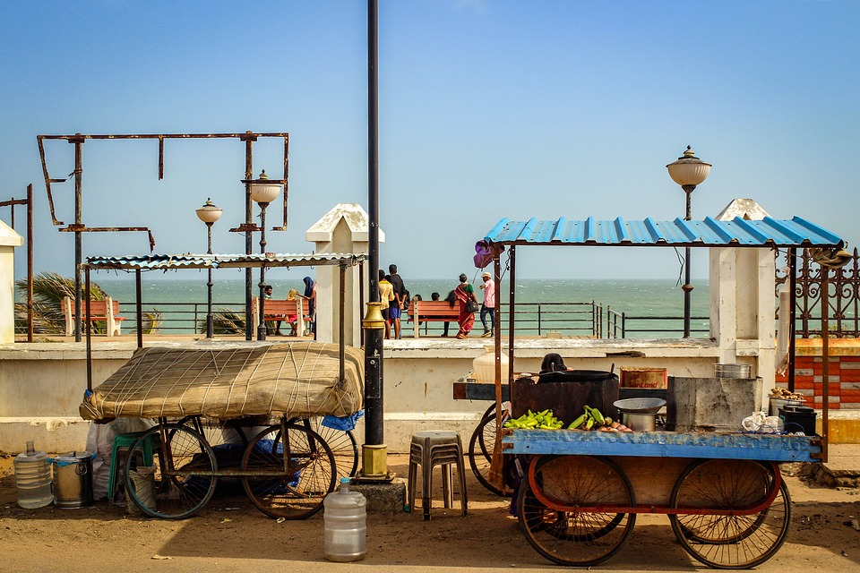 Kanyakumari, India, Travel, Food Stall, Tamil Nadu