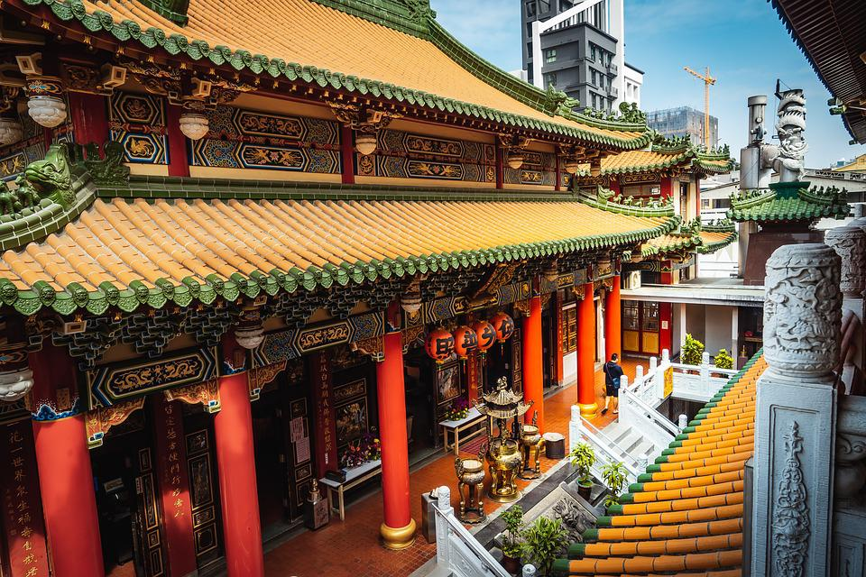 Kaohsiung, Temple, Taiwan, Chinese, Old, Traditional