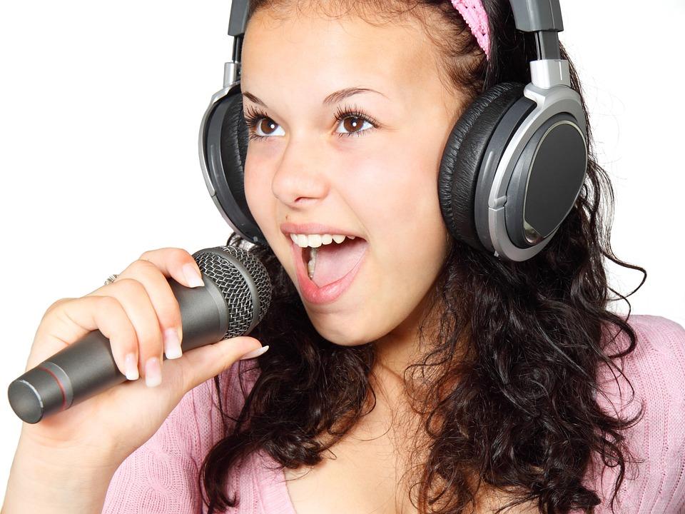Girl, Holding, Karaoke, Mic, Microphone, Music, Singer