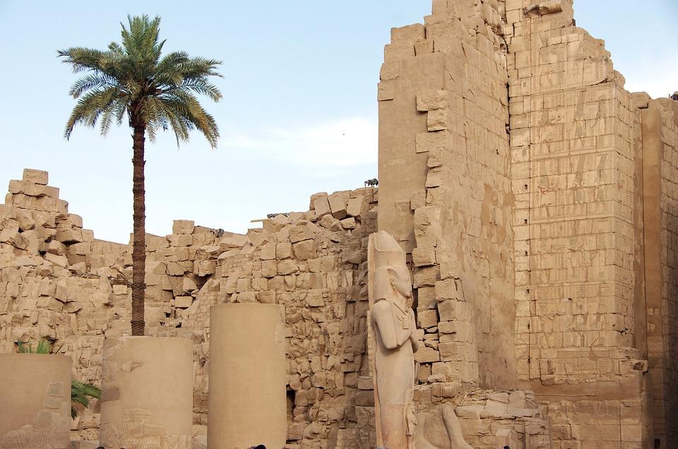 Egypt, Karnak, Temple, Statue, Pylon, Architecture