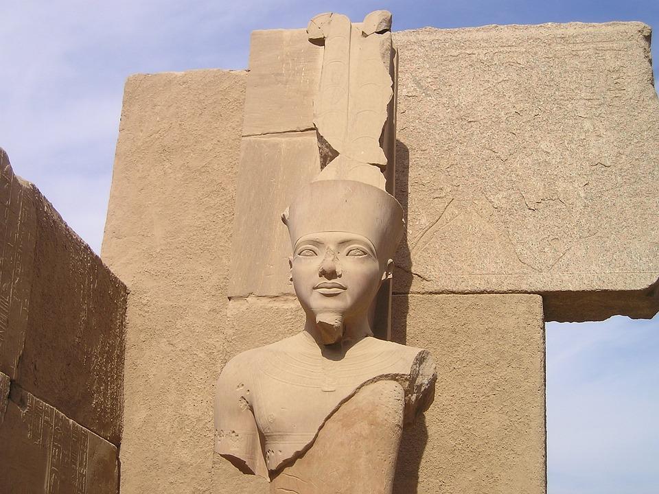 Egypt, Luxor, Karnak, Statue, Pharaonic, Head, Bust