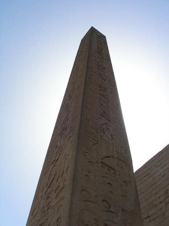 Luxor, Temple, Karnak, Hieroglyph, Column