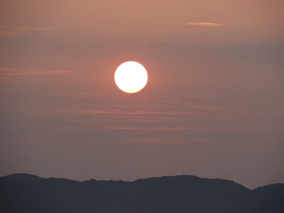 Sunrise, Morning, Landscape, Mountains, Karwar, India