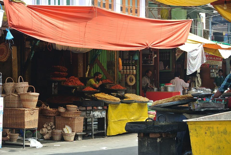 India, Village, Kashmir, Indian Market
