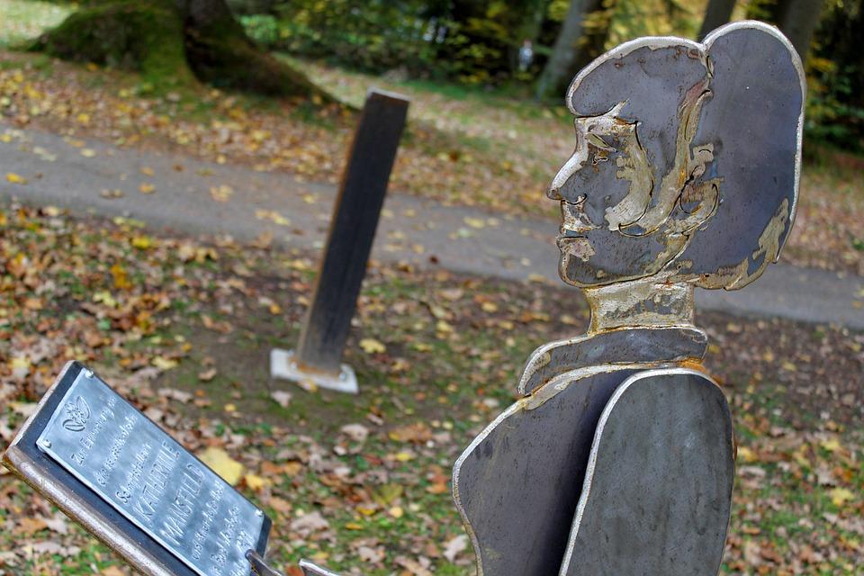 Sculpture, Bad Wörishofen, Katherine Mansfield