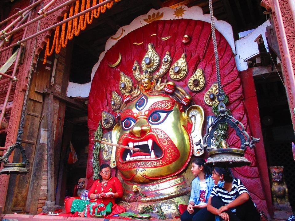 Bhairav, Anger, God, Indrajatra, Aaju, Kathmandu, Nepal