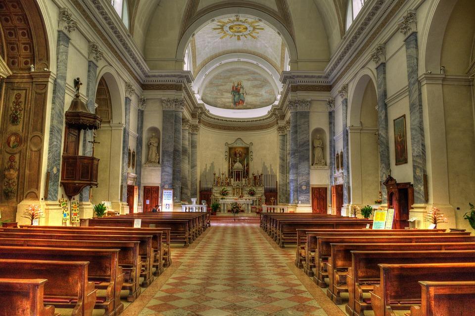 Church, Benches, Katollilaisuus, Lutheranism, Ornaments