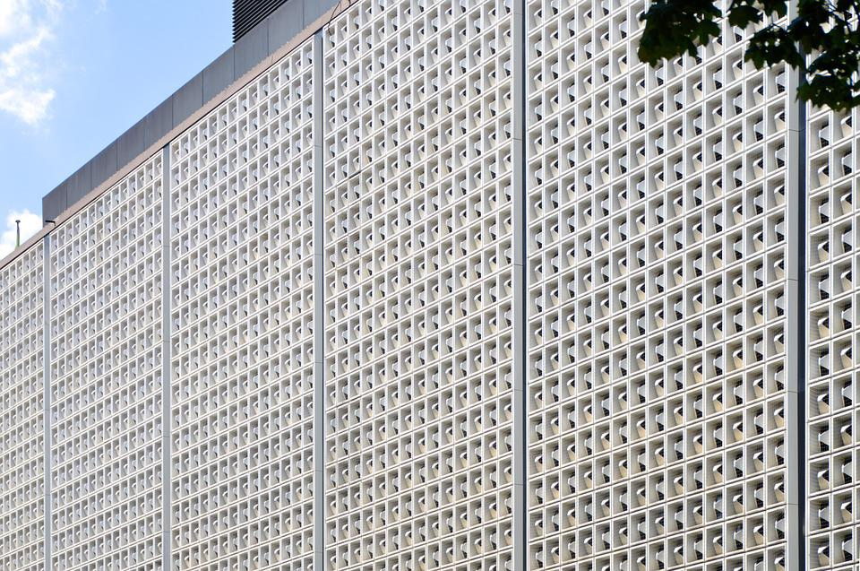 Kempten, Department Store, Facade, Kaufhof, Grid Facade