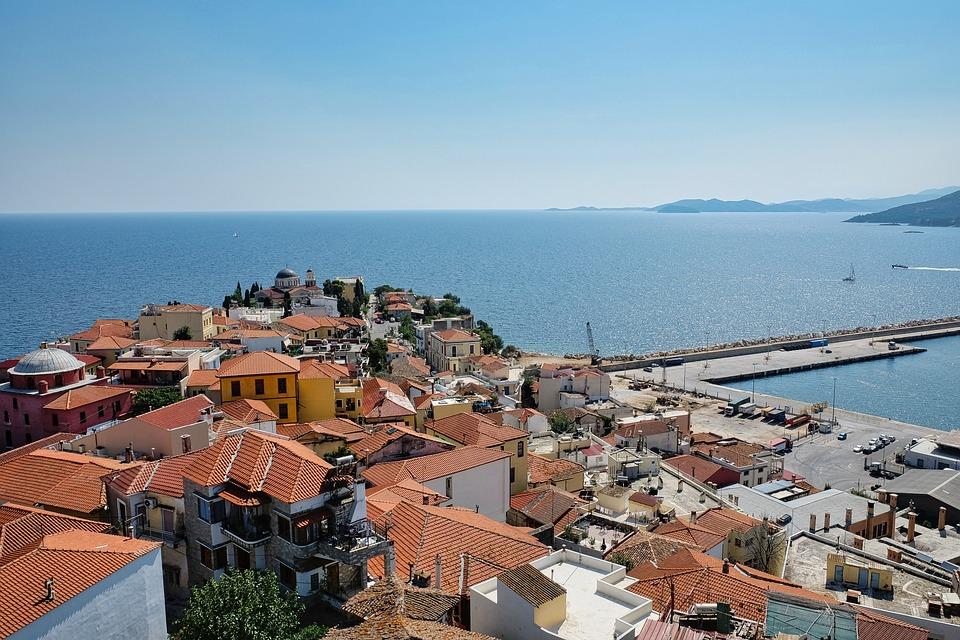 Sea, Coast, Kavala, City, Coastline, Buildings