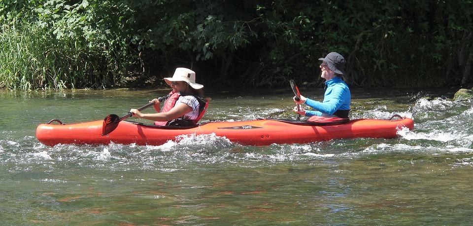 Kayak, Paddle, Kayaked, Water Sports, River