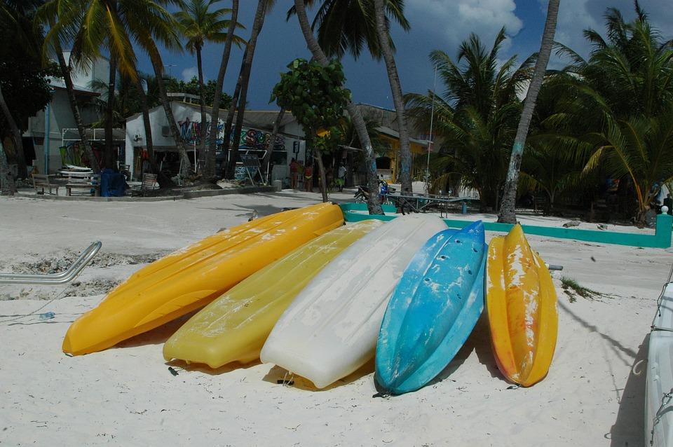 Kayaks, Beach, Island, Sea, Holidays, Rest, Sunbath
