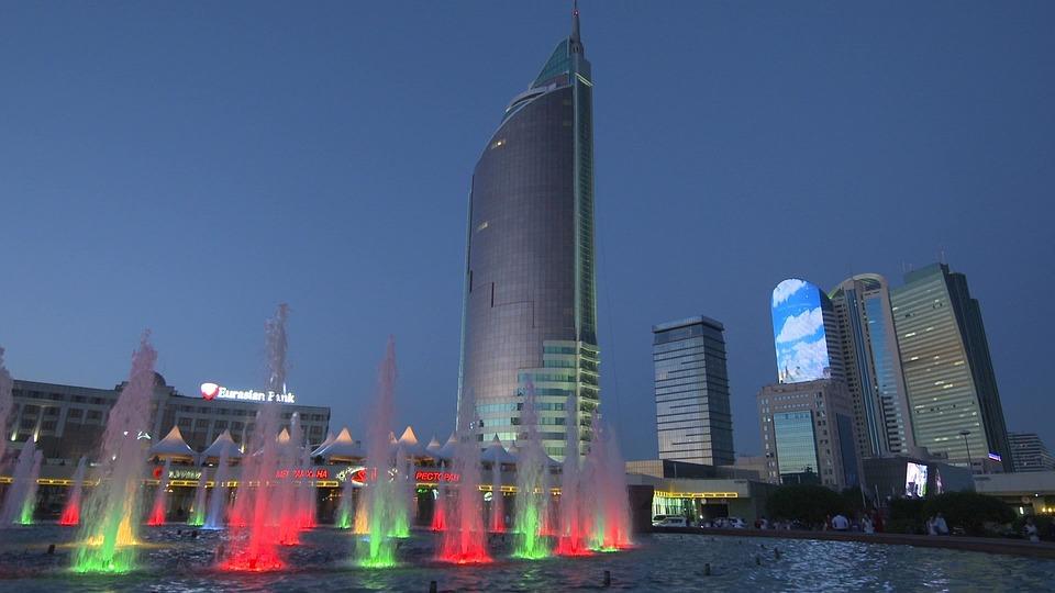 Kazakhstan, Almaty, City, Night, Travel, Kazakh