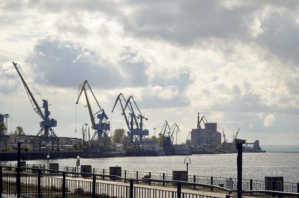 Port, Kazan, Water, River, City, Quay, Sky, Reservoir