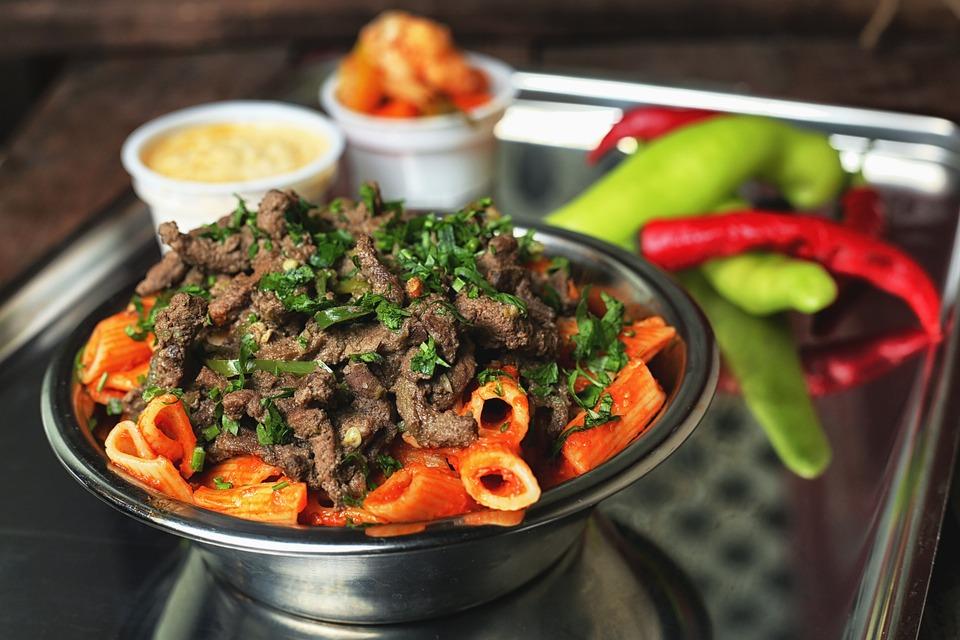 Egypt, Egyptian, Kebda, Liver, Pasta, Food, Meal
