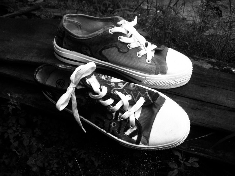 Sneakers, Shoes, Keds, Sport, Black White, Experimental