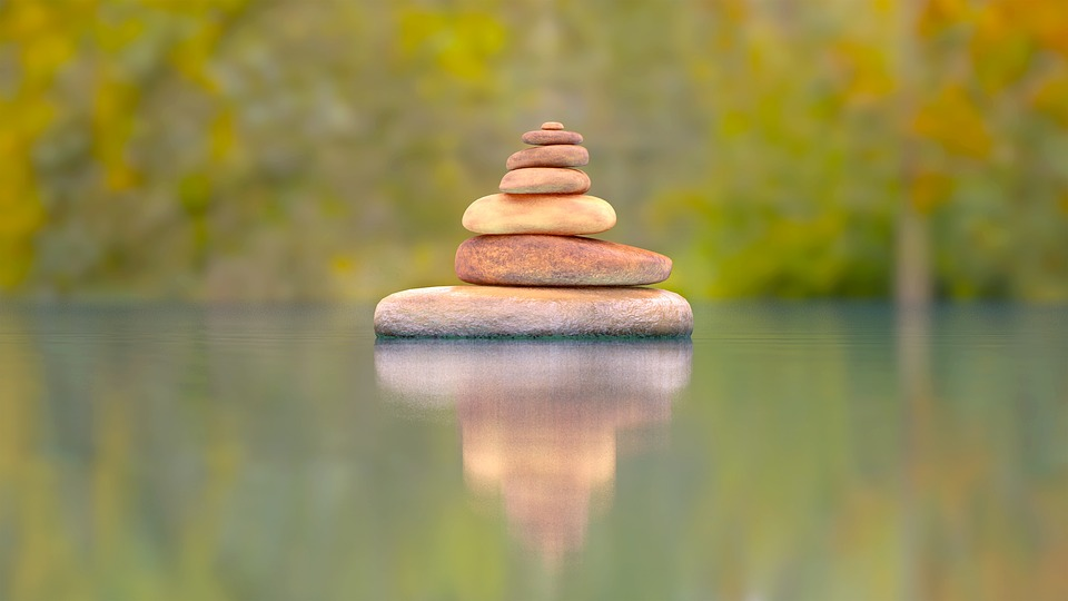 Stones, River, Simple, Beautiful, Layers, Keep Calm