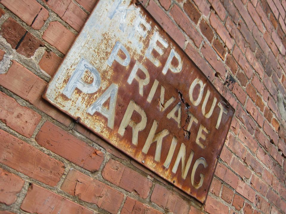 Sign, Keep Out, Brick, Wall, Old, Rust