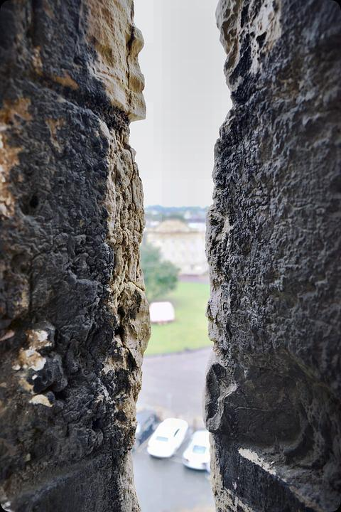 Keep, Wall, Castle, York, Thin View