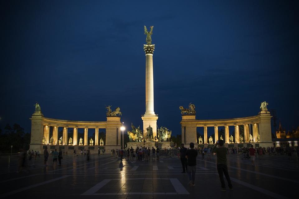 Budapest, At Night, Kékóra, Night Lights, Lights