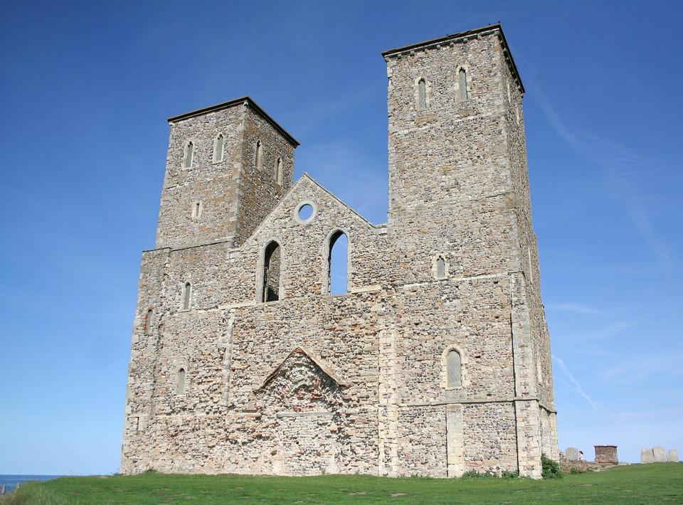 Reculver, Reculver Towers, Kent, English Heritage