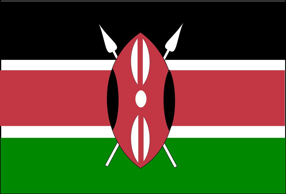 Kenya, Flag, National, Symbol, Country, Nation, Sign