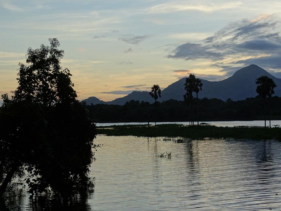 Nature, Kerala, India, Green, Landscape, Sunset, Sky