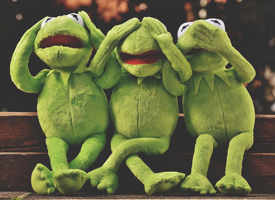 See No Evil, Hear No Evil, Speak No Evil, Frog, Kermit
