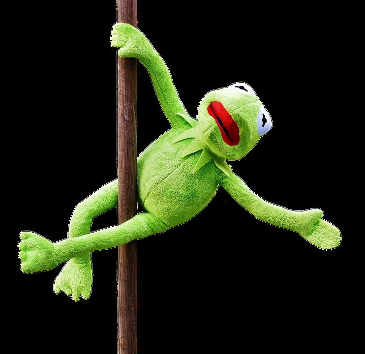 Pole Dance, Kermit, Funny, Soft Toy, Animal, Toys