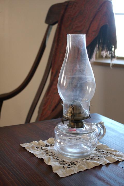 Vintage, Lantern, Light, Oil, Kerosene, Lamp, Glass