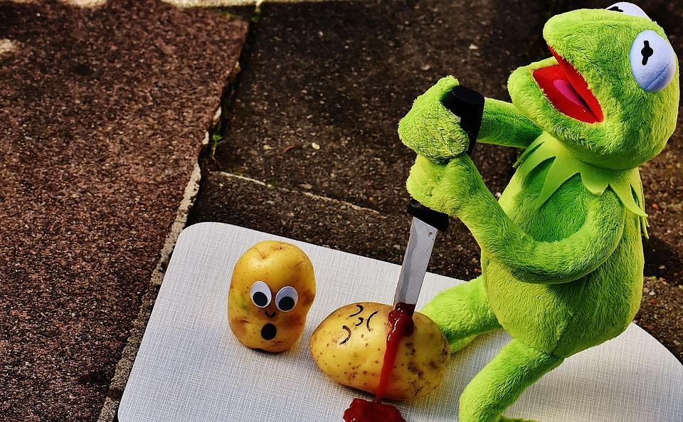 Potatoes, Knife, Ketchup, Blood, Murder, Funny, Kermit